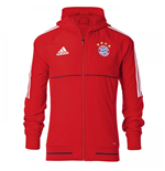 2017-2018 Bayern Munich Adidas Presentation Jacket (Red) - Kids