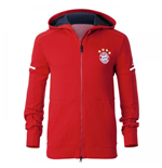 2017-2018 Bayern Munich Adidas Anthem Jacket (Red)