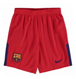 2017-2018 Barcelona Away Nike Goalkeeper Shorts (Red) - Kids