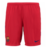 2017-2018 Barcelona Away Nike Goalkeeper Shorts (Red)