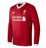 2017-2018 Liverpool Home Long Sleeve Shirt (Kids)