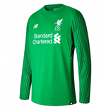 2017-2018 Liverpool Home Long Sleeve Goalkeeper Shirt (Kids)