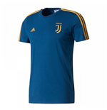 2017-2018 Juventus Adidas 3 Stripe Tee (Blue Night)