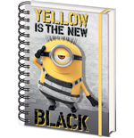 Despicable Me 3 Notebook A5 Yellow Is The New Black