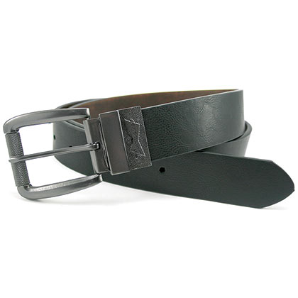 BUDWEISER Silver Buckle Reversible Belt