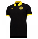 2017-2018 Borussia Dortmund Puma Badge Polo Shirt (Black)