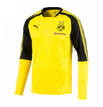 2017-2018 Borussia Dortmund Puma Long Sleeve Training Shirt (Yellow) - Kids
