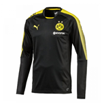 2017-2018 Borussia Dortmund Puma Long Sleeve Training Shirt (Black) - Kids