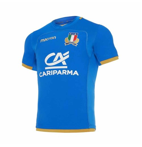 2017-2018 Italy Home Authentic Pro Body Fit Rugby Shirt