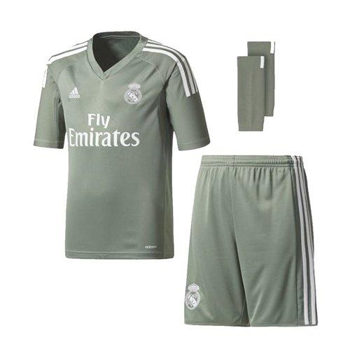 d8e49599c Buy 2017-2018 Real Madrid Adidas Home Goalkeeper Full Kit (Kids)