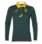 2017-2018 South Africa Springboks LS Supporters Home Rugby Shirt