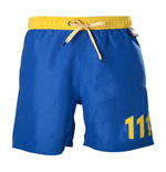 FALLOUT 4 Men's Vault 111 Swimming Shorts, Large, Blue/Yellow