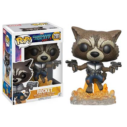 Funko Pop GUARDIANS OF THE GALAXY Rocket Raccoon Bobble Head