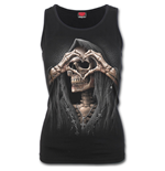 Dark Love - Razor Back Top Black