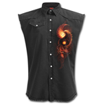 Phoenix Arisen - Sleeveless Stone Washed Worker Black