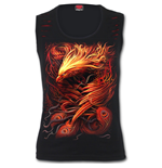 Phoenix Arisen - Red Ripped Sleeveless Top