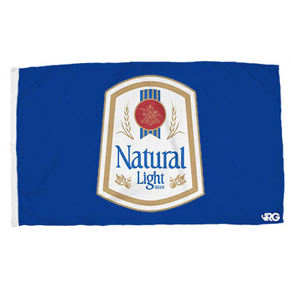 NATURAL LIGHT Vintage Flag