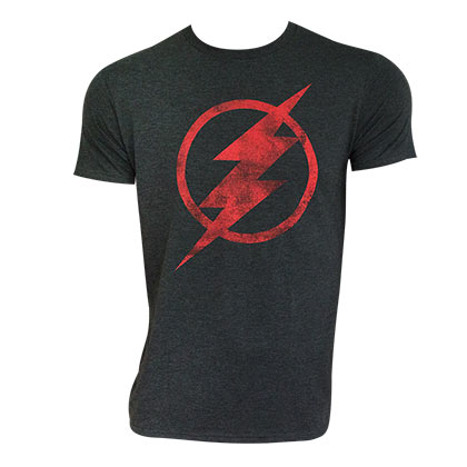 The FLASH Distressed Logo Gray Tee Shirt