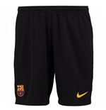 2017-2018 Barcelona Home Nike Goalkeeper Shorts (Black)
