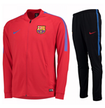2017-2018 Barcelona Nike Squad Woven Tracksuit (Red)
