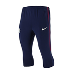 2017-2018 Man City Nike Three Quarter Length Training Pants (Navy)