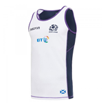 2017-2018 Scotland Macron Rugby Dry Training Singlet (White)