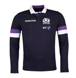 2017-2018 Scotland Home LS Cotton Rugby Shirt