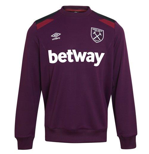 finest selection df746 33187 2017-2018 West Ham Training Sweatshirt (Winter Bloom)