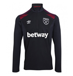 2017-2018 West Ham Half Zip Training Top (Black)