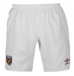 2017-2018 West Ham Home Football Shorts (White)