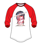 David Bowie Men's Raglan Tee: Face