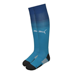 2017-2018 Arsenal Away Football Socks Blue