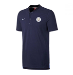 2017-2018 Man City Nike Authentic Grand Slam Polo Shirt (Obsidian)