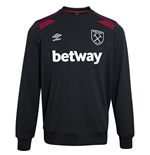 2017-2018 West Ham Training Sweatshirt (Black)