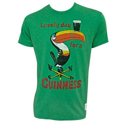 GUINNESS Vintage Toucan Green Tee Shirt