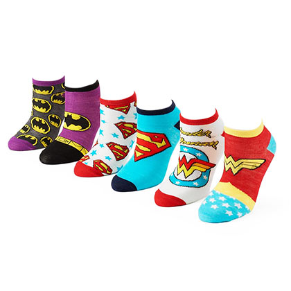 DC Comics Women's 6 Pack Socks