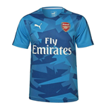 2017-2018 Arsenal Puma Camo Stadium Jersey (Blue) - Kids