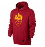 2017-2018 AS Roma Nike Core Hooded Top (Red)