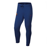 2017-2018 Barcelona Nike Core Fleece Cuff Pants (Deep Royal)