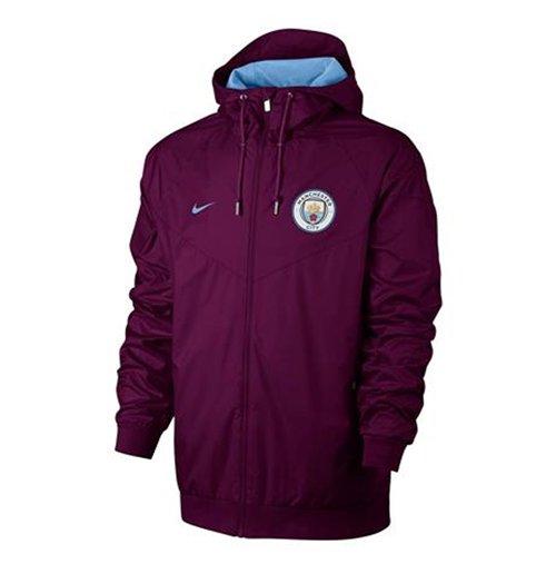Buy 2017-2018 Man City Nike Authentic Windrunner Jacket (True Berry) de08f8484