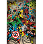 Marvel Superheroes Poster - Here Come The Heroes - 61X91,5 Cm
