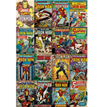 Marvel Superheroes Poster Iron Man Covers - 61X91,5 Cm