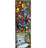 Marvel Superheroes Door Poster - Heroes Retro - 53X158 Cm