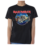 Iron Maiden Men's Tee: Wasted Years Circle