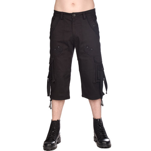 Black Pistol Military Short Pants Denim