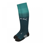 2017-2018 Arsenal Home Goalkeeper Socks (Deep Teal) - Kids