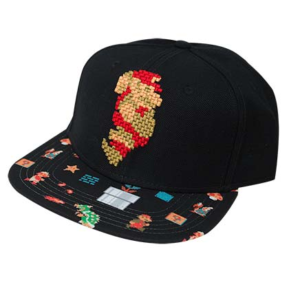 Super MARIO Pixelated Snapback Hat