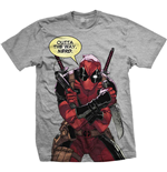 Marvel Comics Mens Tee: Deadpool Nerd
