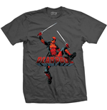 Marvel Comics Mens Tee: Deadpool Logo Jump