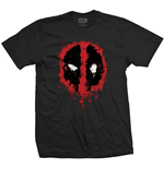 Marvel Comics Mens Tee: Deadpool Face